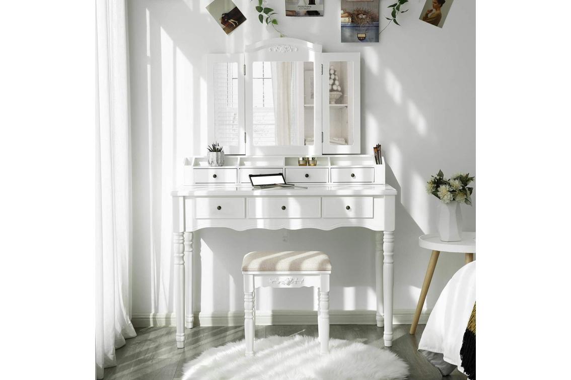white modern dressing table